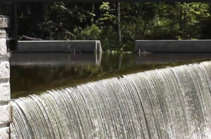 The dam on the Blackberry River at Beckley Furnace